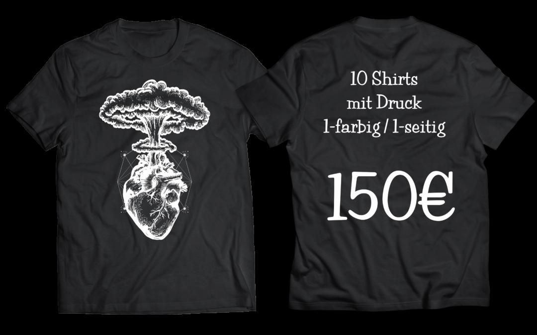 10 Shirts ein Preis